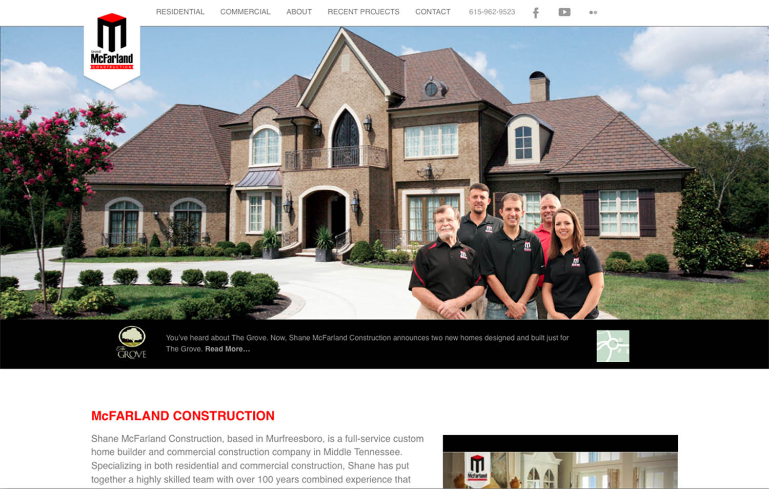 Shane McFarland Construction. Murfreesboro, TN - Website Image