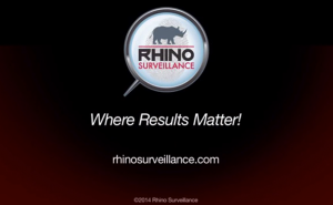rhino surveillance video image