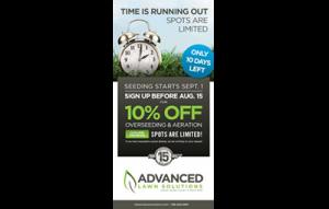 Advanced Lawn Solutions - Seeding eBlast - portfolio