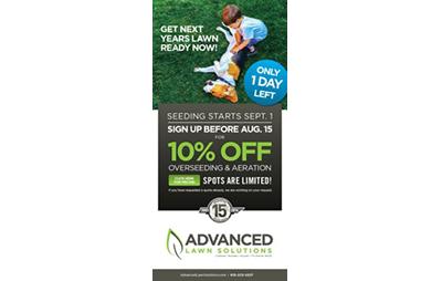 Advanced Lawn Solutions - Seeding eBlast -portfolio
