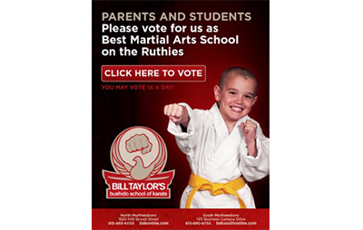 Bill Taylor's Bushido School of Karate - Ruthies eBlast - portfolio