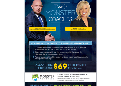 Coach Burt Monster Producer Magazine Ad