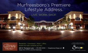 The Gateway Village. Magazine Ad, Murfreesboro, TN - print