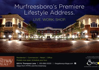 The Gateway Village. Magazine Ad, Murfreesboro, TN - print