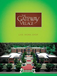 The Gateway Village. Brochure Cover, Murfreesboro, TN - print ad