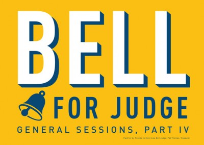 Lisa Bell for Judge - Car Magnet