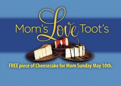 Toot's Good Food & Fun Restaurant. Murfreesboro, TN. - Mother's Day Napkin