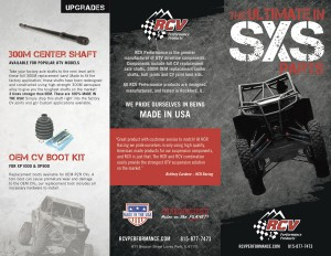 RCV. Off-Road Performance Products, Loves Park, IL - Brochure Center Shaft, Boot Kit