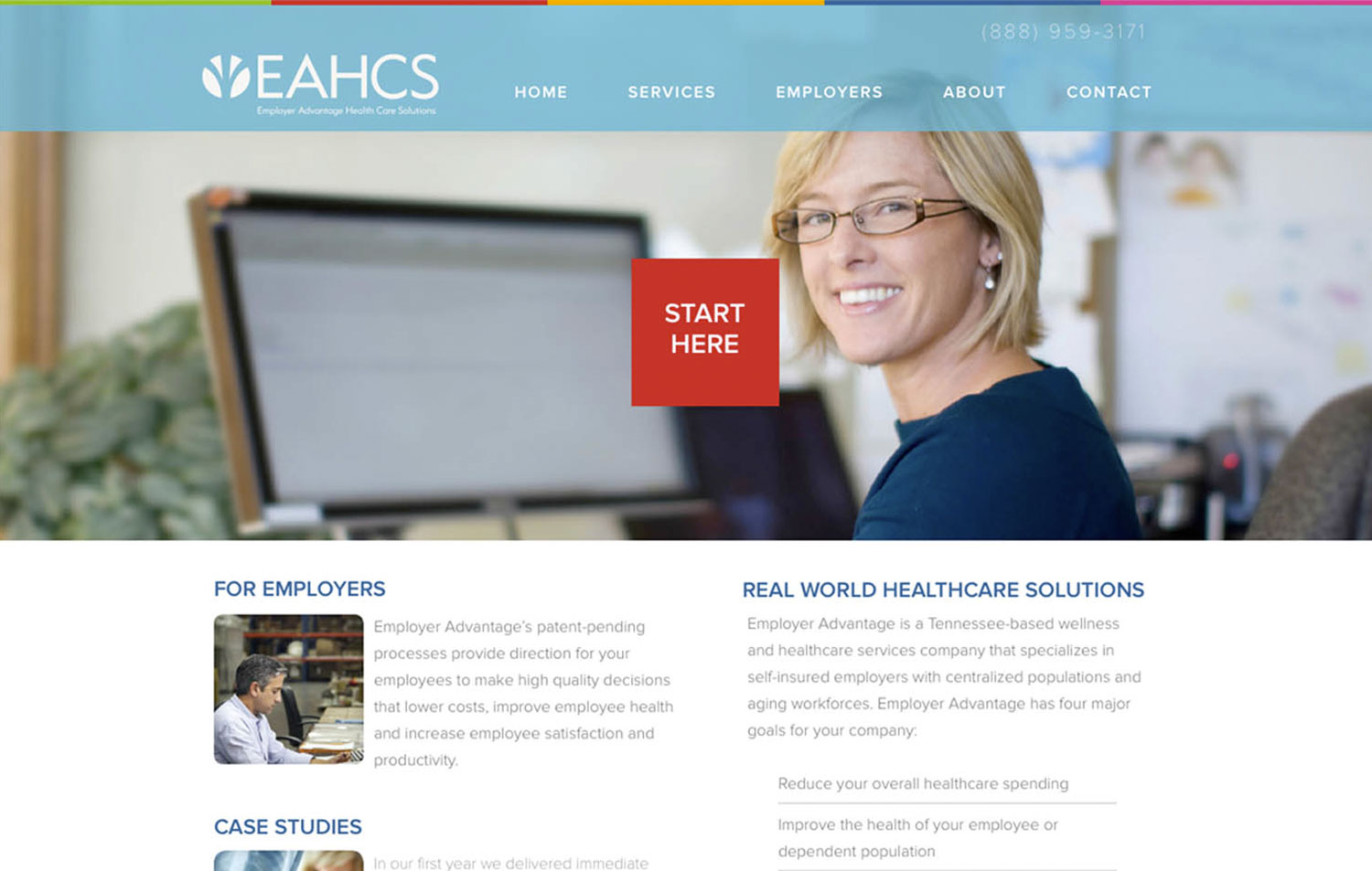 EAHCS Employer Advantage Health Care Solutions - Navigation Advertising - Healthcare - Web