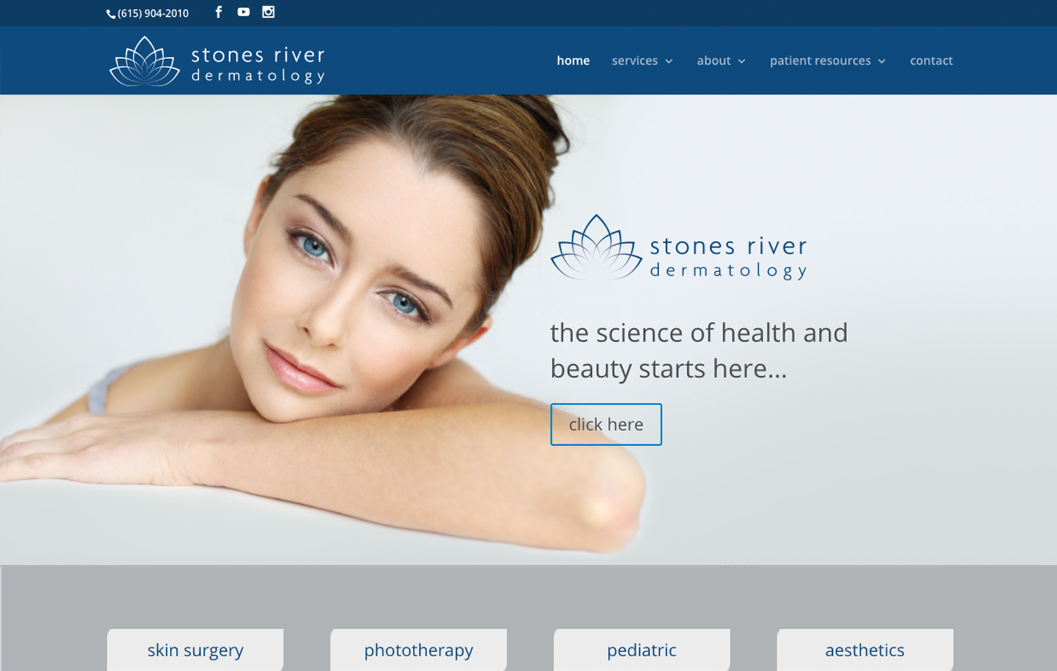 Stones River Dermatology - Navigation Advertising - Healthcare - Web