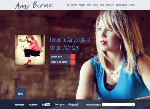 Amy Berna Website image