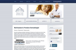 Stones River Dermatology. website image