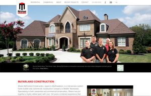 Shane McFarland Construction website image