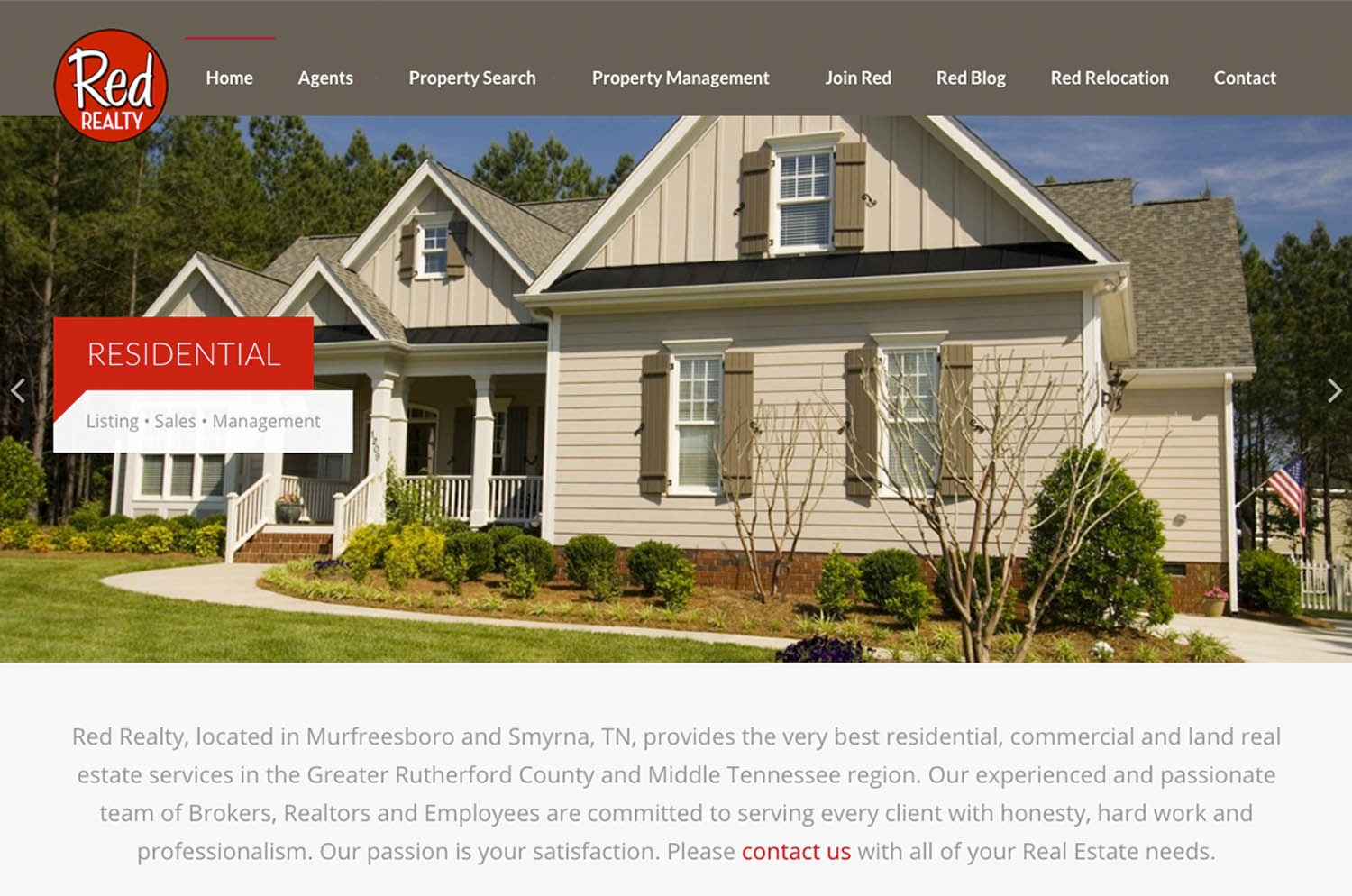 Red Realty. Murfreesboro, TN - Website Image