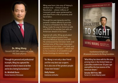 Dr. Ming Wang Book Promotion Banners - portfolio