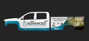 Advanced Lawn Solutions. Truck Wrap. Smyrna, TN - portfolio