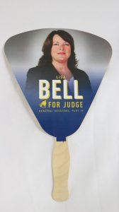 Lisa Bell Political Campaign. Promotional Fan. Murfreesboro, TN. - portfolio