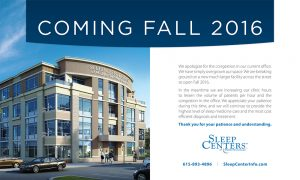 Sleep Centers of Middle Tennessee. Office Lobby Promotional Sign. Murfreesboro, TN - portfolio