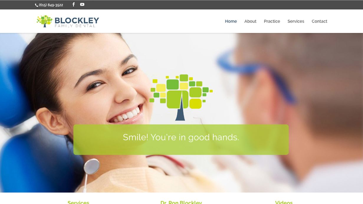 Blockley Family Dental - Navigation Advertising - Healthcare - Web