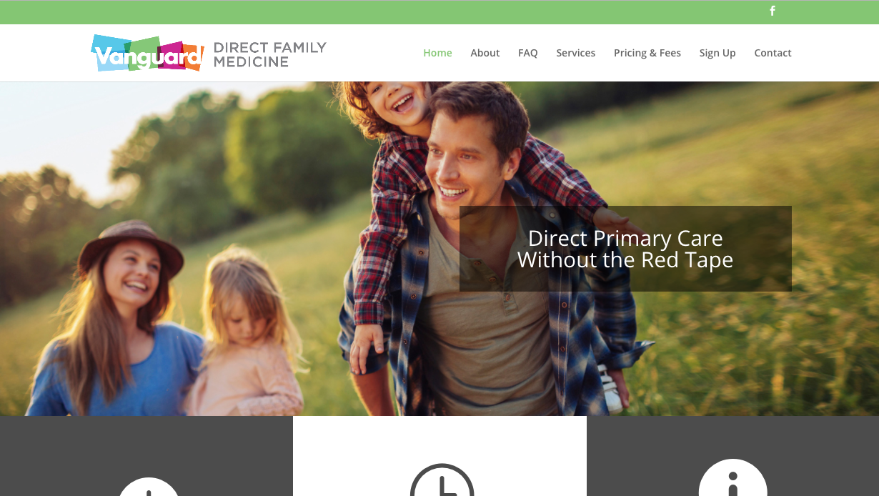 Vanguard Direct Family Medicine - Navigation Advertising - Healthcare - Web