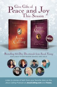 Christmas Magazine ad design for Jesus Calling Devotional, Harper Collins Publishing, Nashville, TN