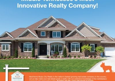Magazine Print Ad, NextHome Music City Realty, Brentwood, TN