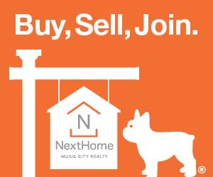 Website display ad for NextHome Music City Realty, Brentwood, TN