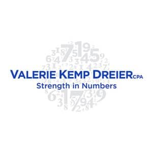 Logo concept and design for Valerie Kemp Drier CPA, Nashville, TN