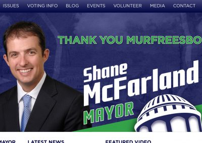Shane McFarland for Mayor Website