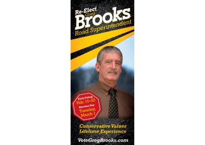 Greg Brooks for Road Superintendent